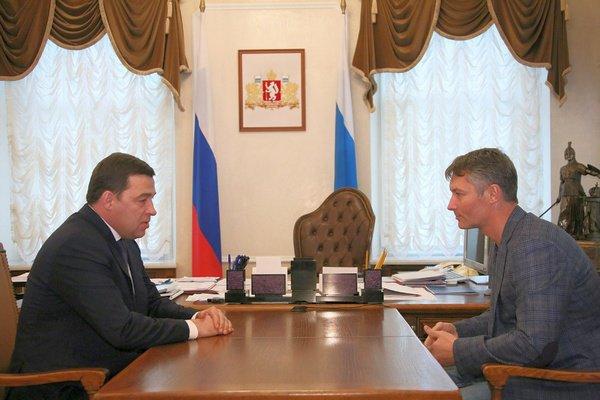 Евгений Ройзман на рабочей встрече с Евгением Куйвашевым